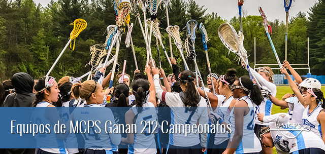 MCPS athletic teams won a total of 212 championships