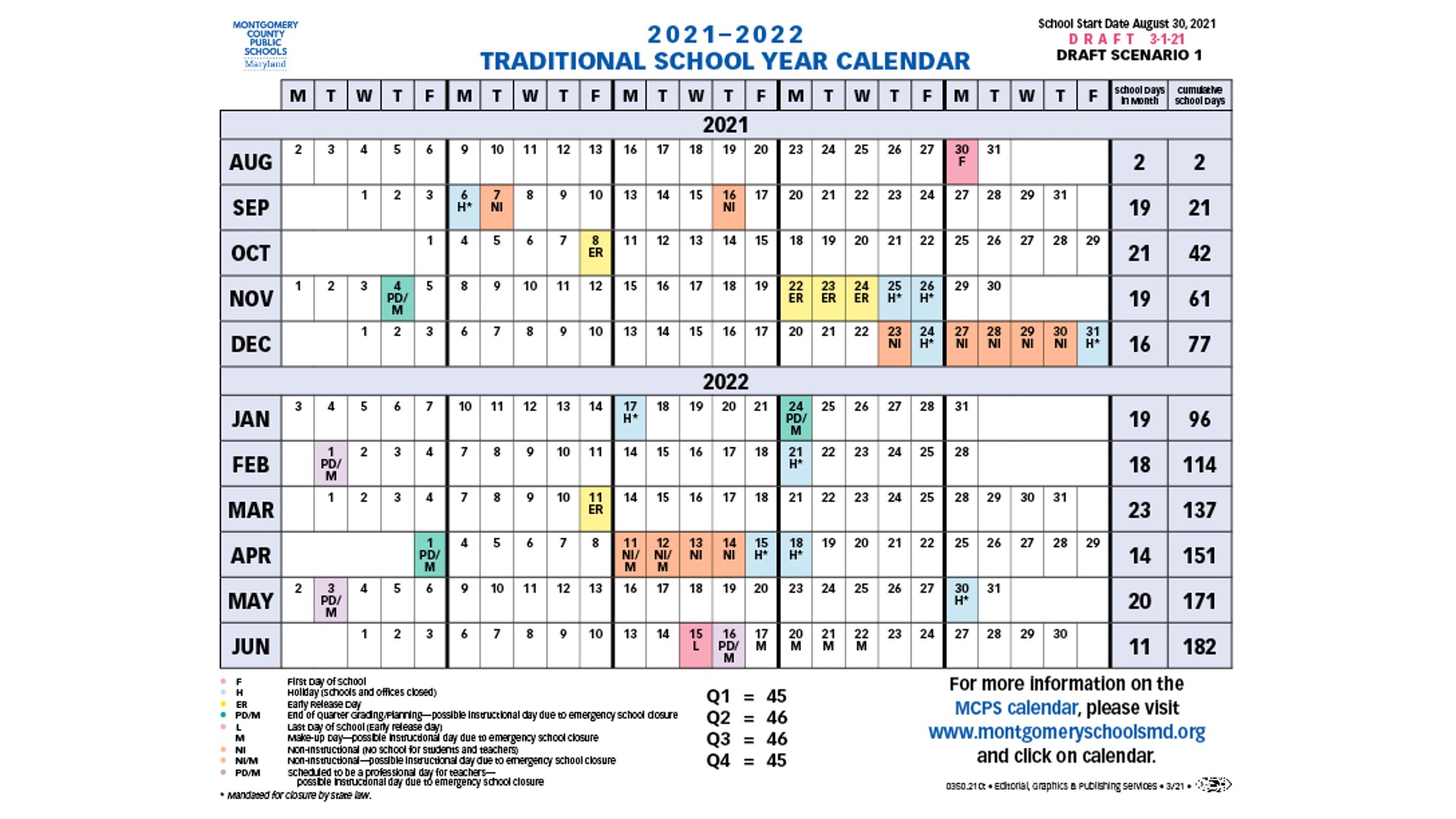 Adopted FY2022 Traditional Calendar