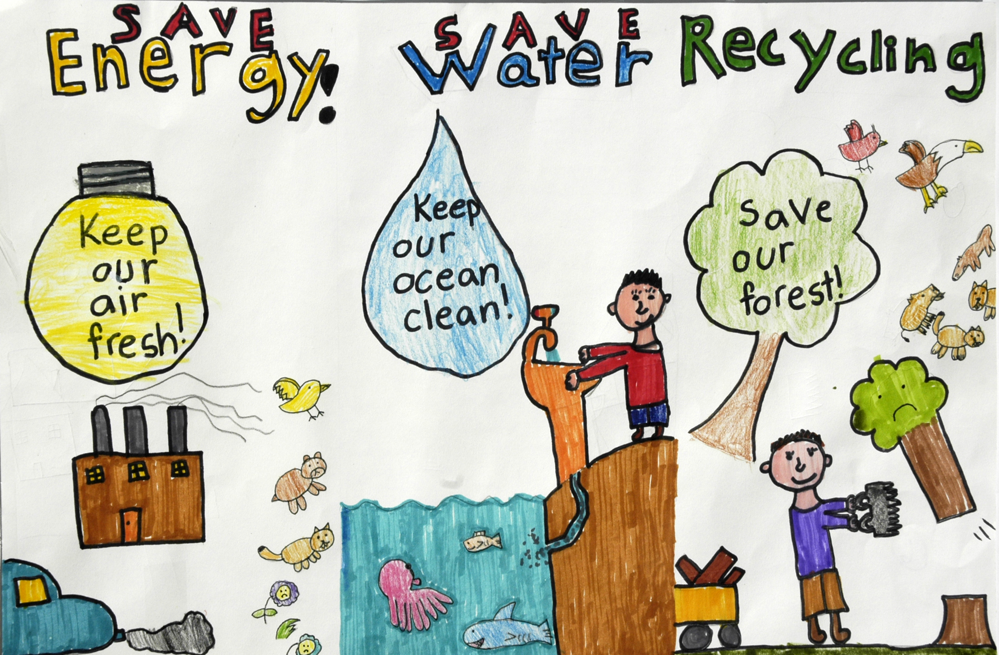 First Grade Energy Conservation Posters