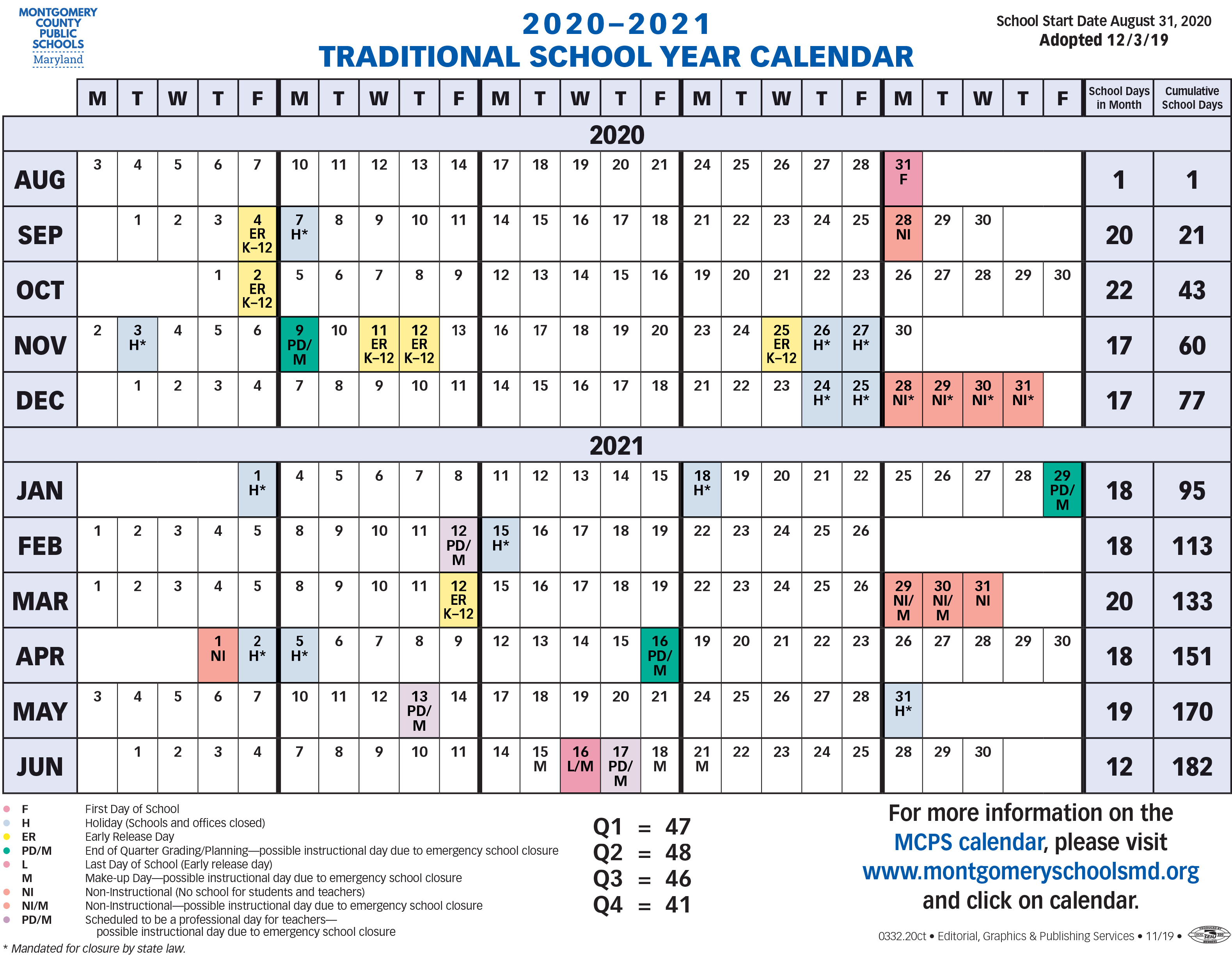 Adopted FY2021 Traditional Calendar