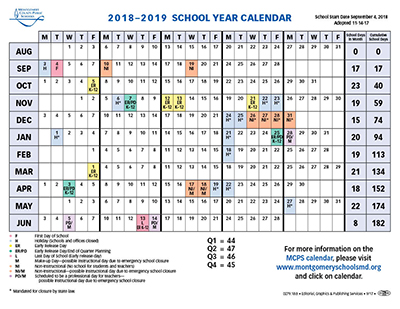 Proposed Calendar 2018-19 - Montgomery County Public Schools
