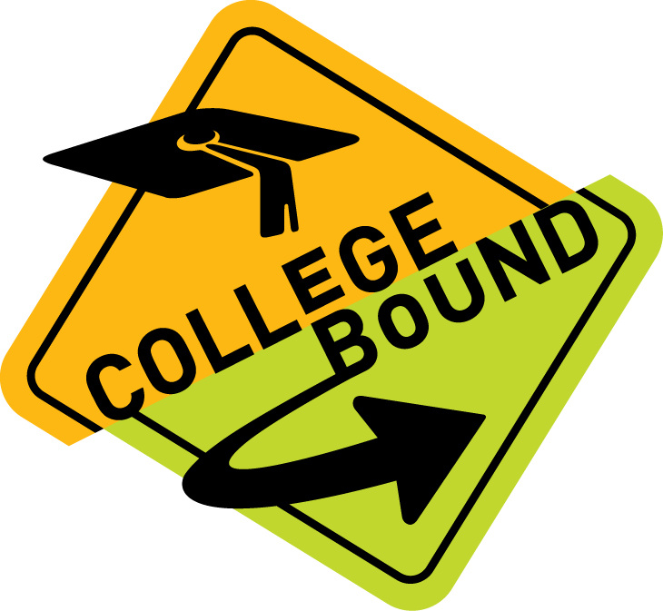 college bound road sign