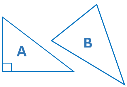 Two Triangles, A and B
