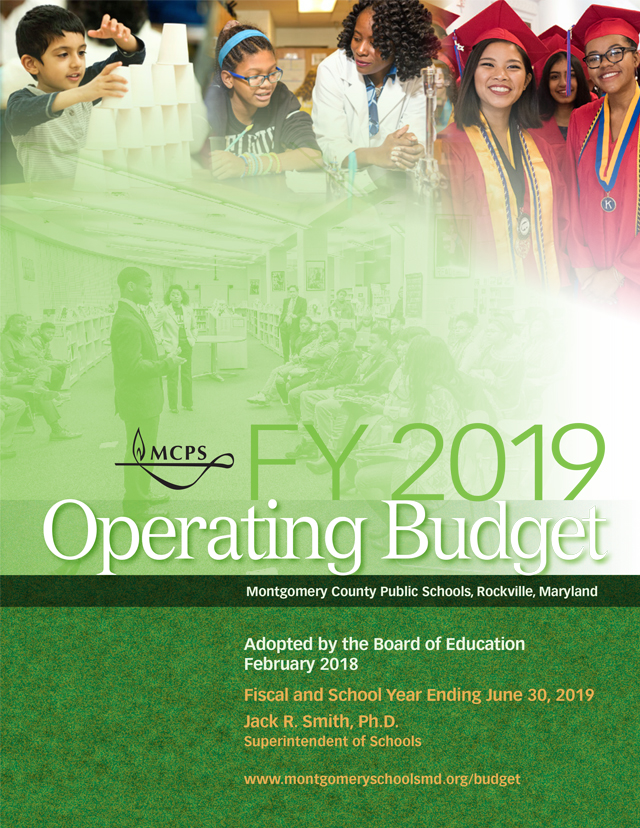 FY 2019 Board of Education Adopted Budget Feb. 26, 2018