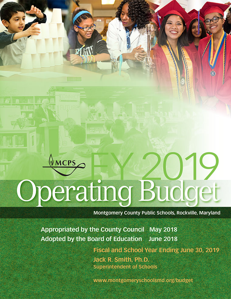 Final MCPS Operating Budget for Fiscal Year 2019