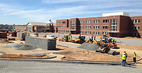 Hallie Wells MS Exterior Construction