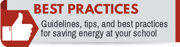 Click for energy conservation best practices