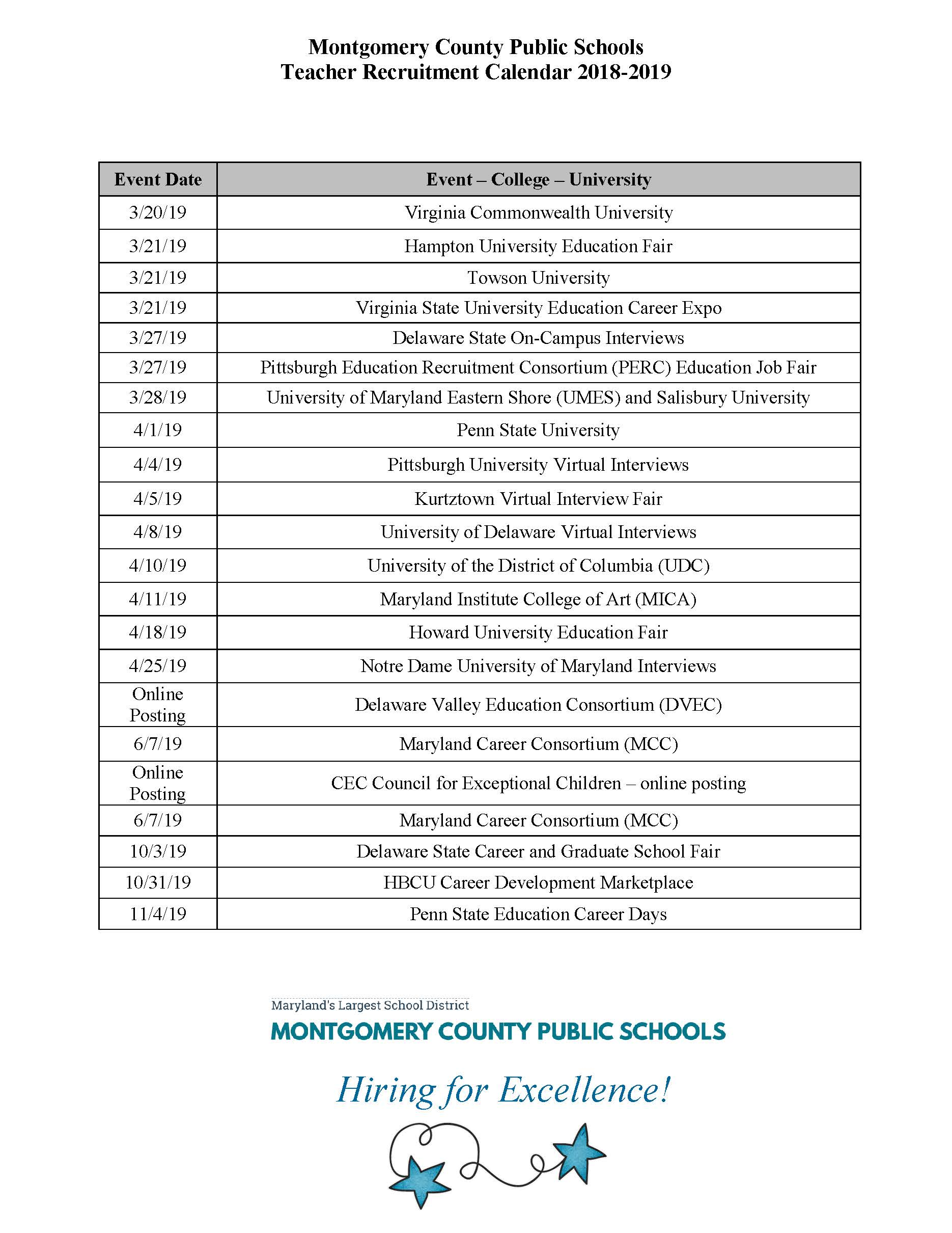 Pittsburgh Public School Calendar.Careers Montgomery County Public Schools Rockville Md