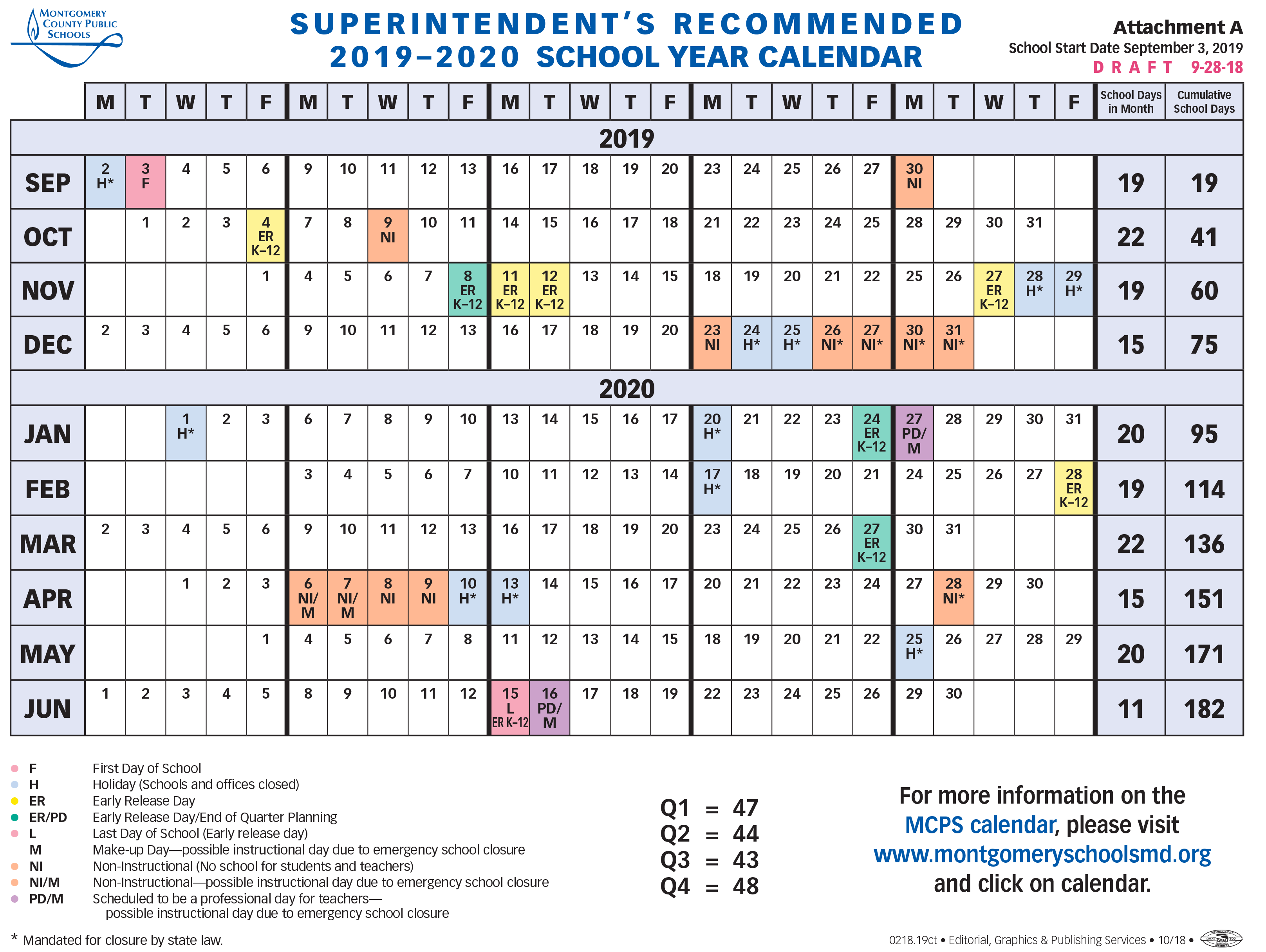 Montgomery County School Calendar 2019 20.Board Of Education Sets Calendar For 2019 2020 School Year