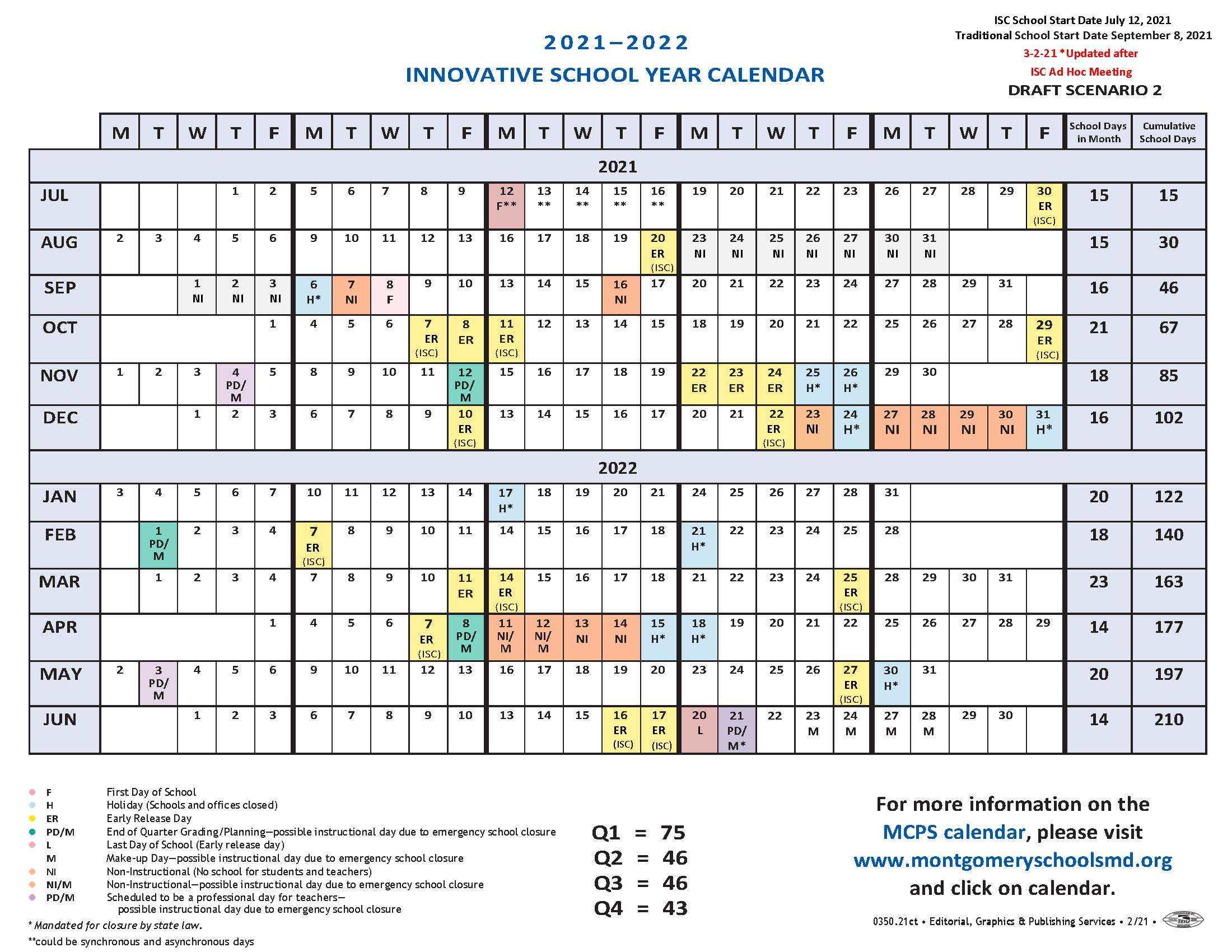 Adopted FY2022 Innovative Calendar
