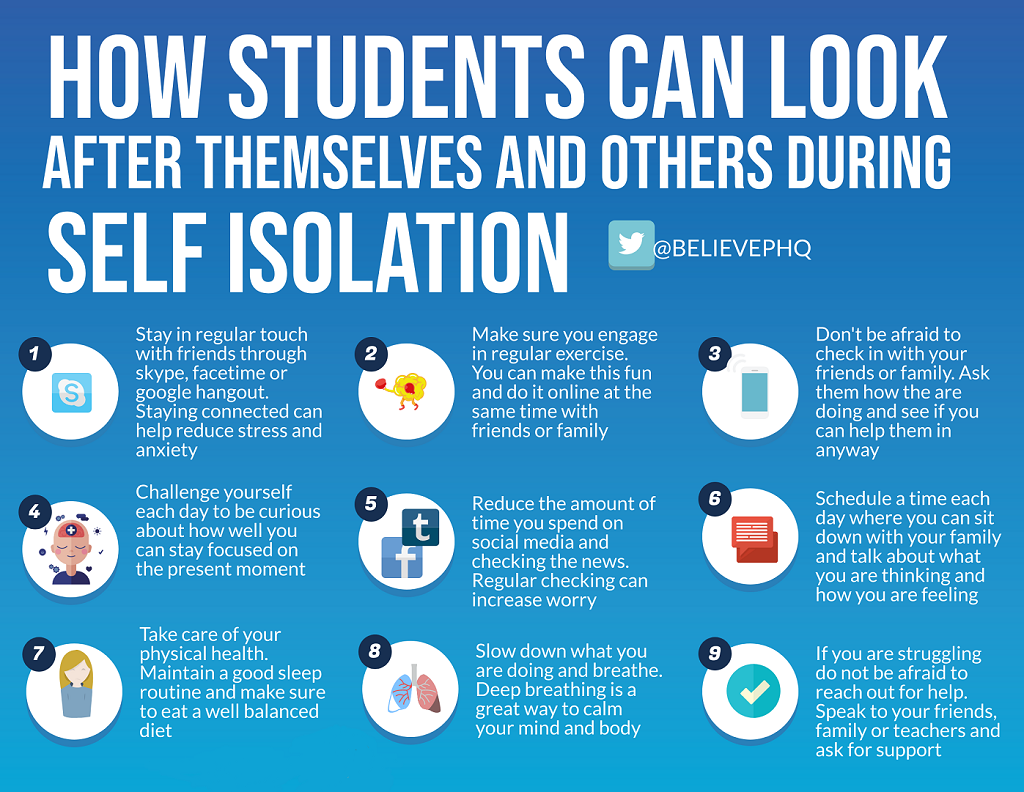 Support students during self-isolation