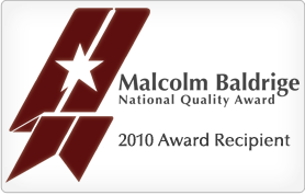 Malcolm Baldrige National Quality Award - 2010 Recipient